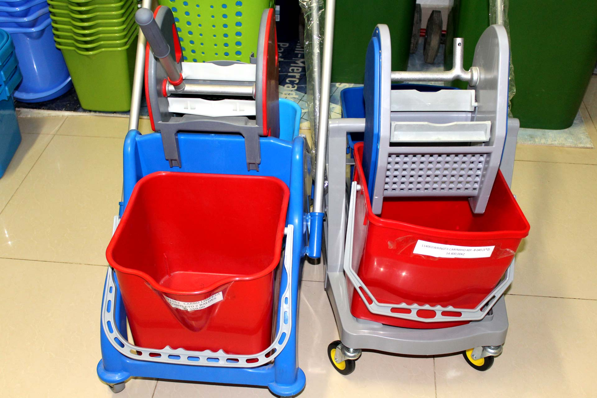 Cleaning Cart with 2 Buckets